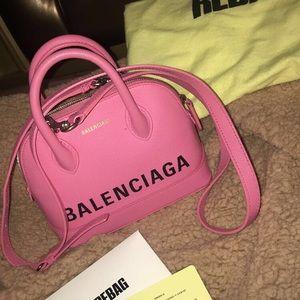 Balenciaga Ville XXS Leather Top Handle Bag Pink